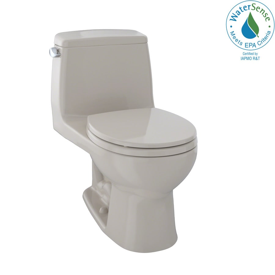 TOTO Eco Ultramax 1.28 Bone WaterSense Round Standard Height 1-Piece Toilet