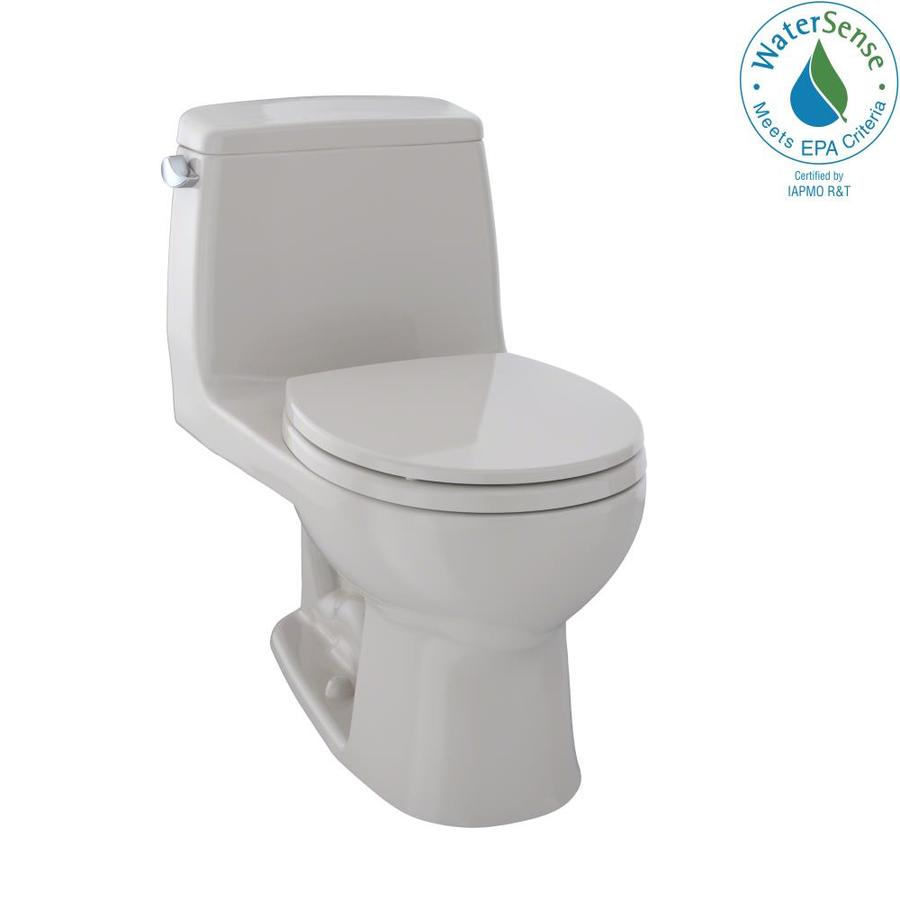 TOTO Eco Ultramax Sedona Beige WaterSense Labeled  Round Standard Height 1-piece Toilet 12-in Rough-In Size