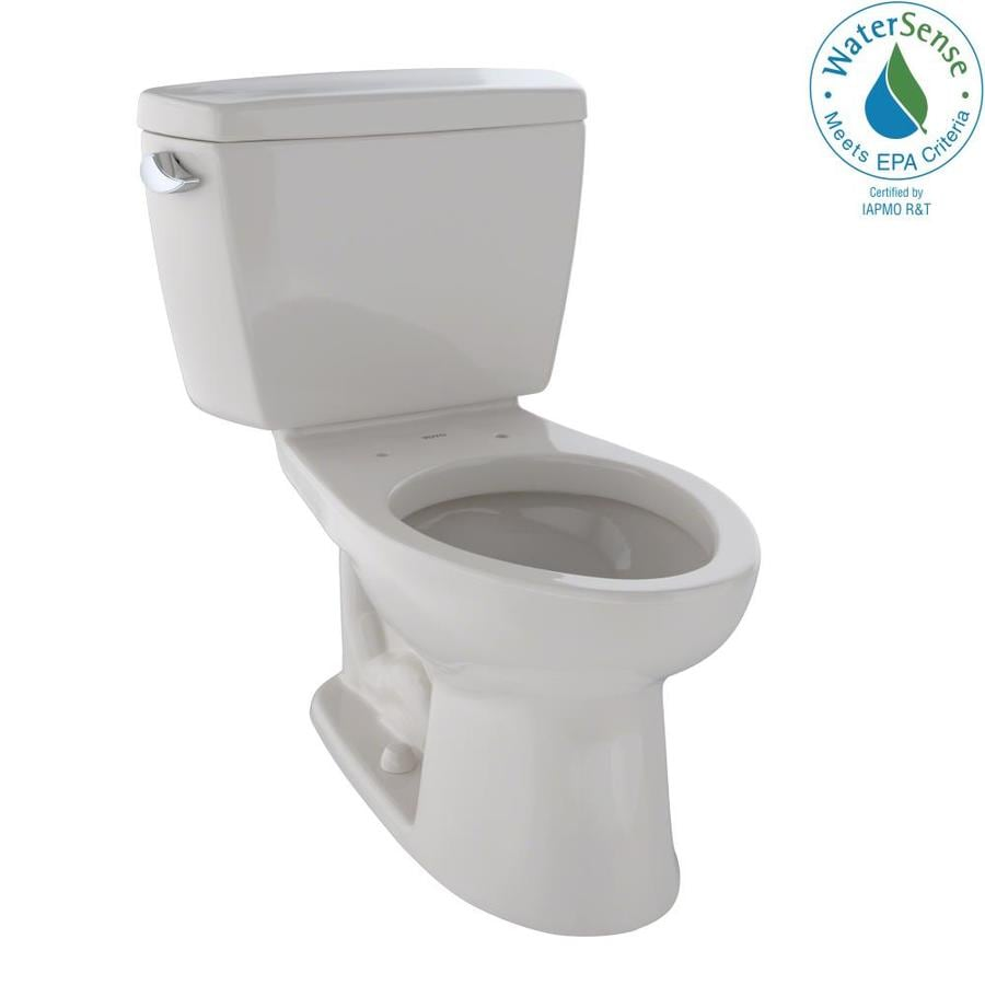 TOTO Eco Drake 1.28-GPF (4.85-LPF) Sedona Beige WaterSense Elongated Chair Height 2-Piece Toilet