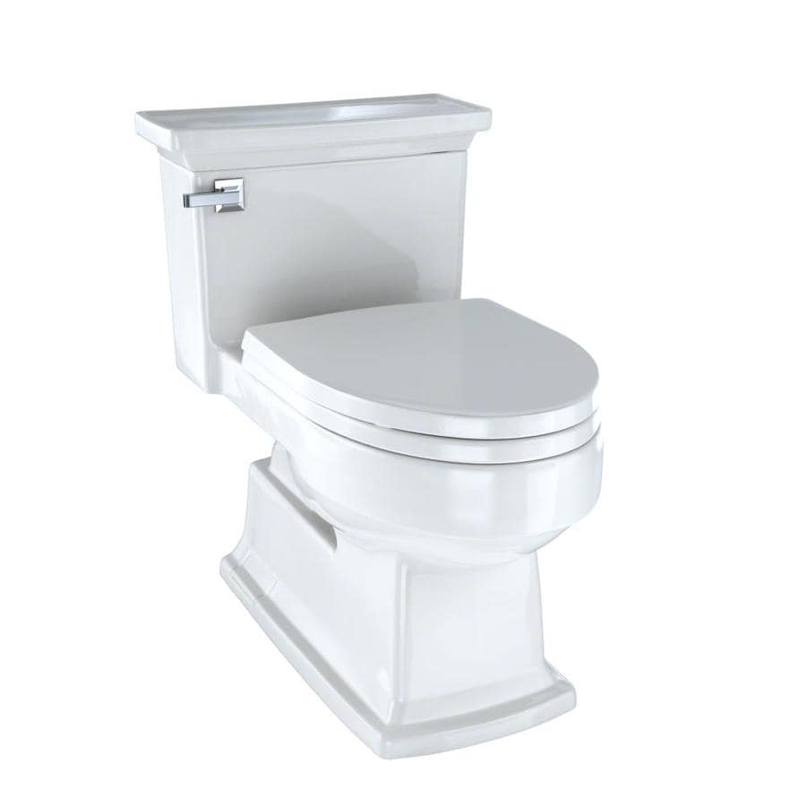 TOTO Eco Lloyd Colonial White WaterSense Labeled  Elongated Chair Height 1-piece Toilet 12-in Rough-In Size