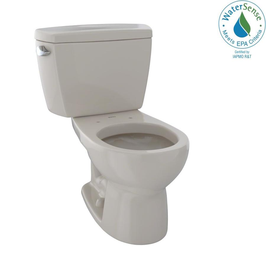 TOTO Eco Drake 1.28-GPF (4.85-LPF) Bone WaterSense Round Standard Height 2-Piece Toilet