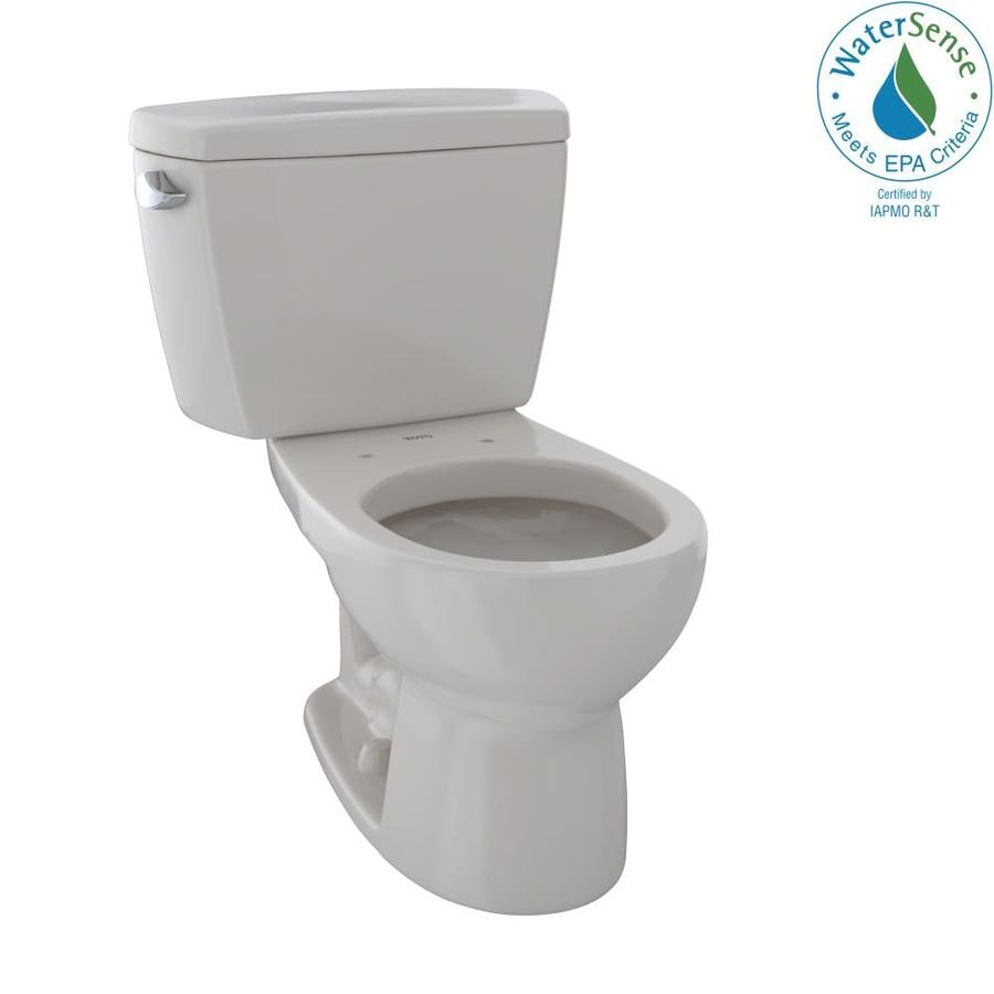 TOTO Eco Drake 1.28 Sedona Beige WaterSense Round Standard Height 2-Piece Toilet