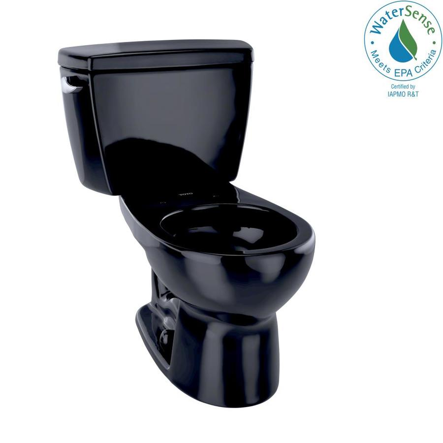 TOTO Eco Drake 1.28 Ebony WaterSense Round Standard Height 2-Piece Toilet