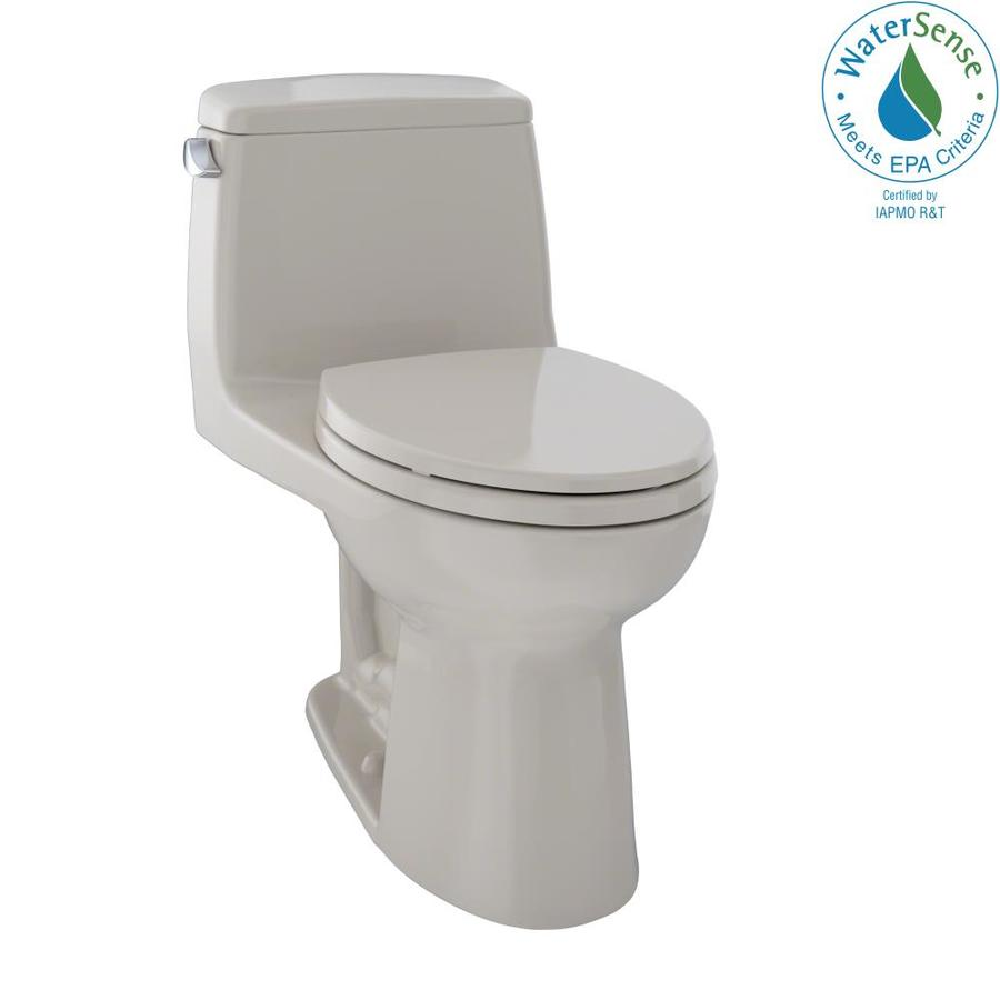TOTO Eco Ultramax 1.28 Bone WaterSense Elongated Chair Height 1-Piece Toilet