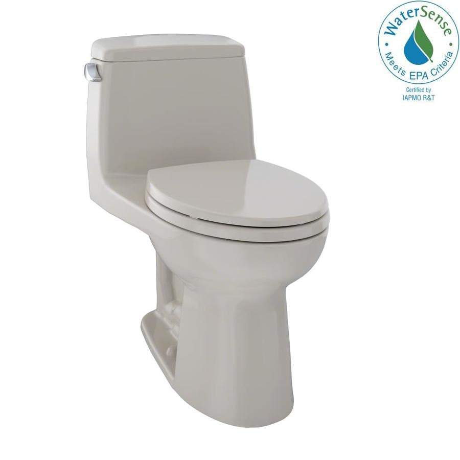 TOTO Eco Ultramax 1.28-GPF (4.85-LPF) Bone Elongated Chair Height 1-piece Toilet
