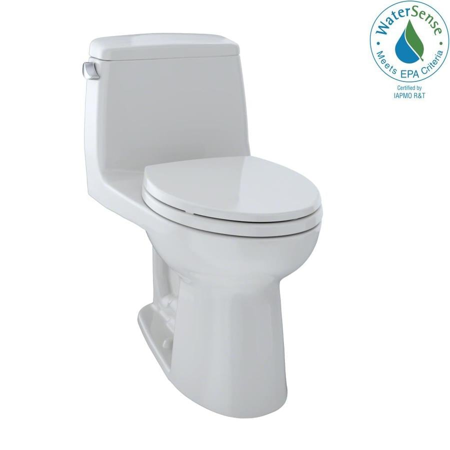 TOTO Eco Ultramax 1.28 Colonial White WaterSense Elongated Chair Height 1-Piece Toilet