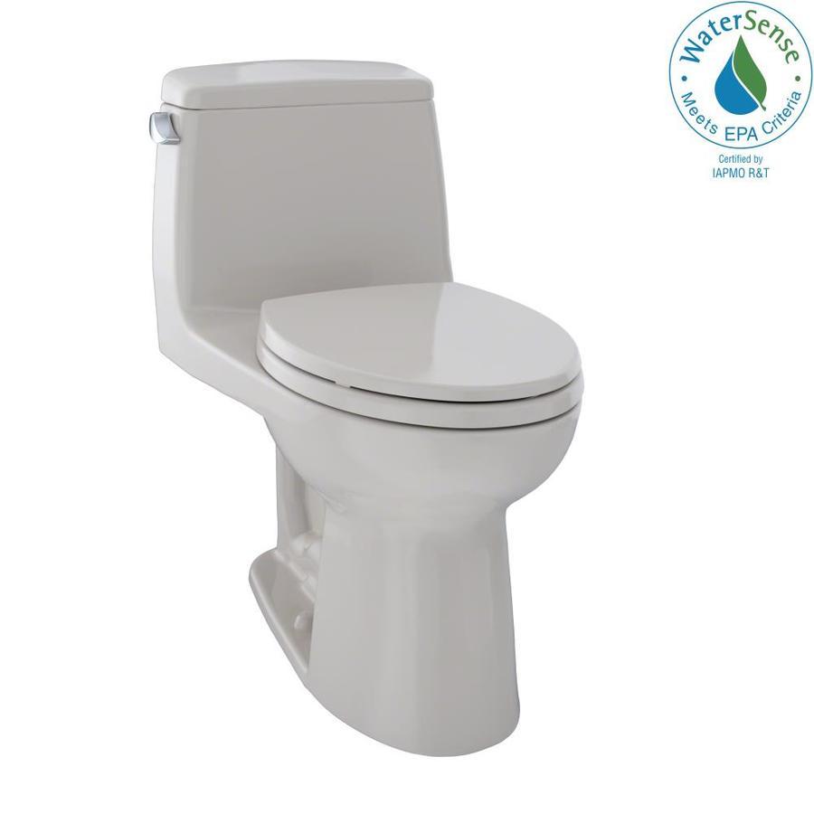 TOTO Eco Ultramax 1.28-GPF (4.85-LPF) Sedona Beige Elongated Chair Height 1-piece Toilet