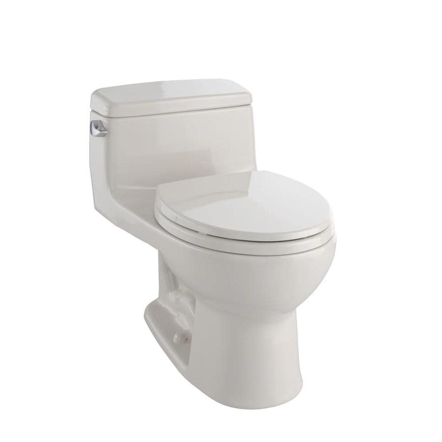 TOTO Eco Supreme 1.28-GPF Bone WaterSense Round Standard Height 1-Piece Toilet