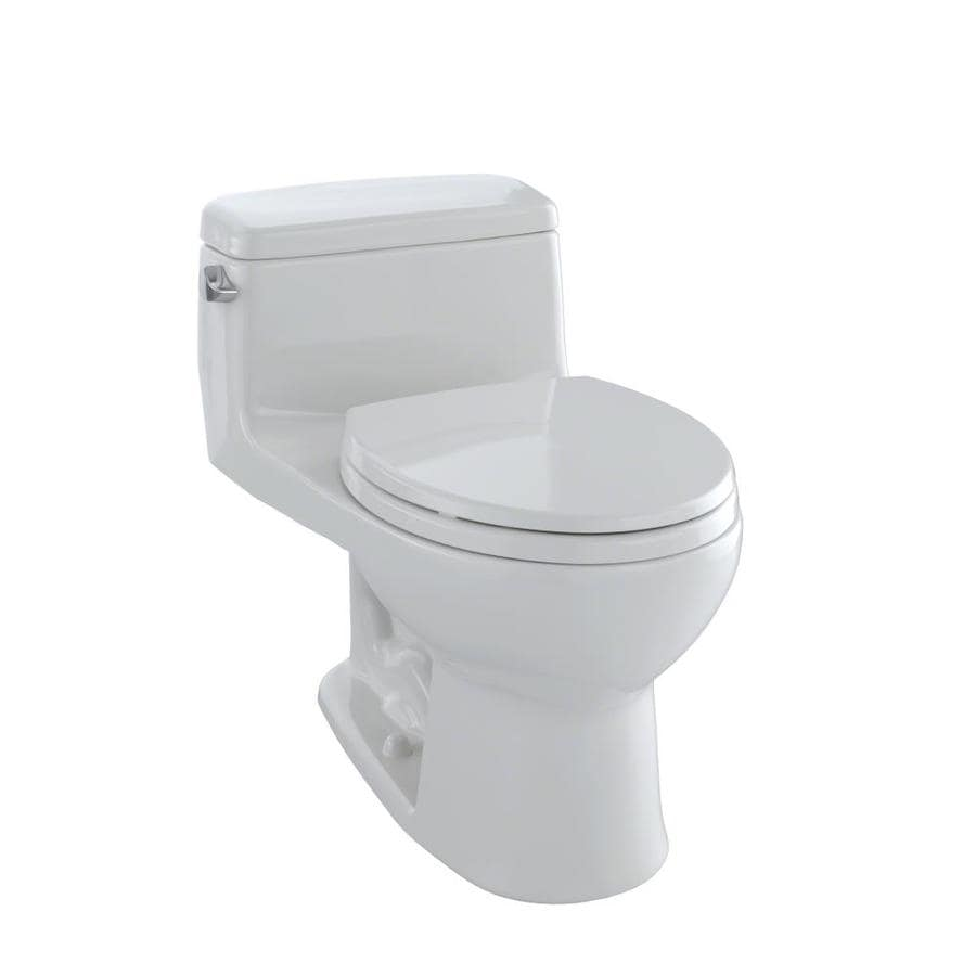 TOTO Eco Supreme Colonial White 1.28-GPF (4.85-LPF) 12 Rough-In WaterSense Round 1-Piece Standard Height Toilet