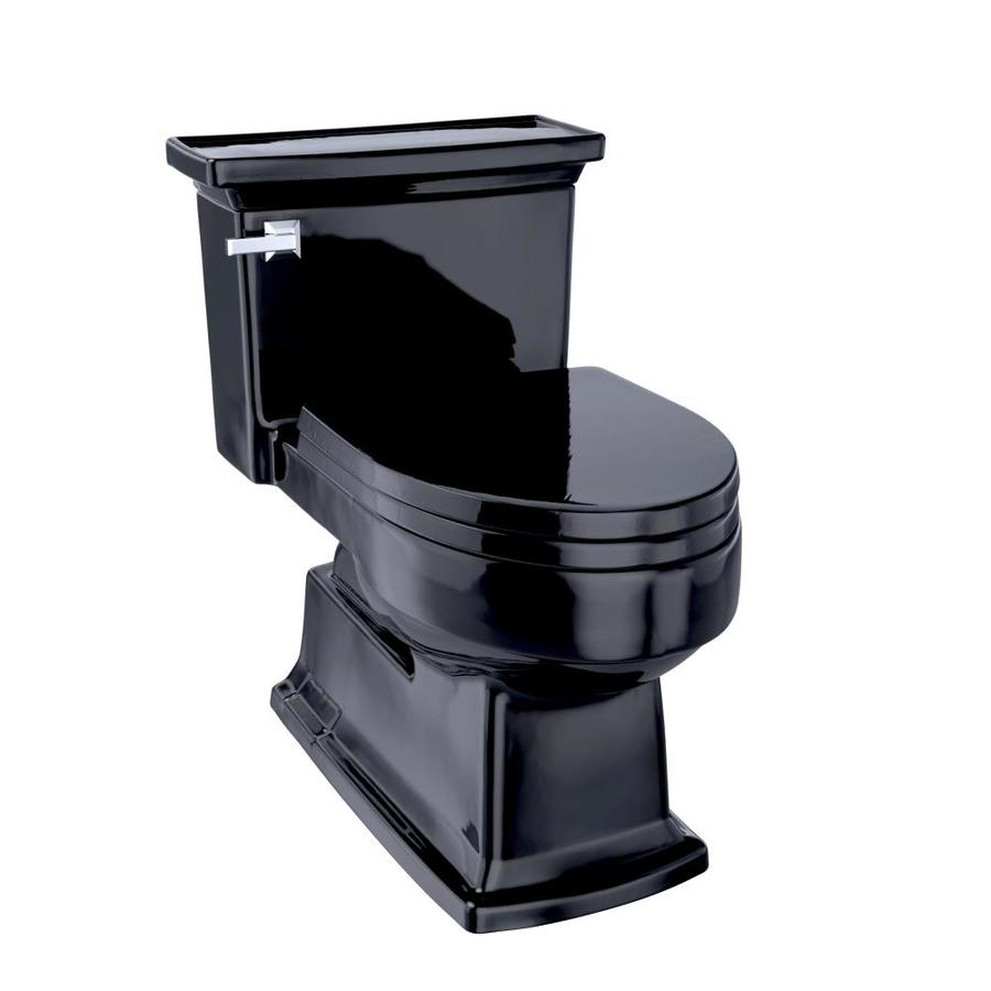 TOTO Eco Lloyd 1.28-GPF Ebony WaterSense Elongated Chair Height 1-Piece Toilet
