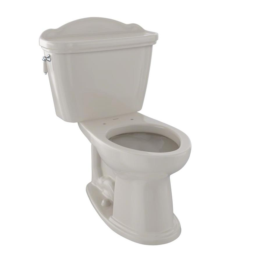TOTO Eco Whitney Bone 1.28-GPF (4.85-LPF) 12 Rough-In WaterSense Elongated 2-Piece Chair Height Toilet