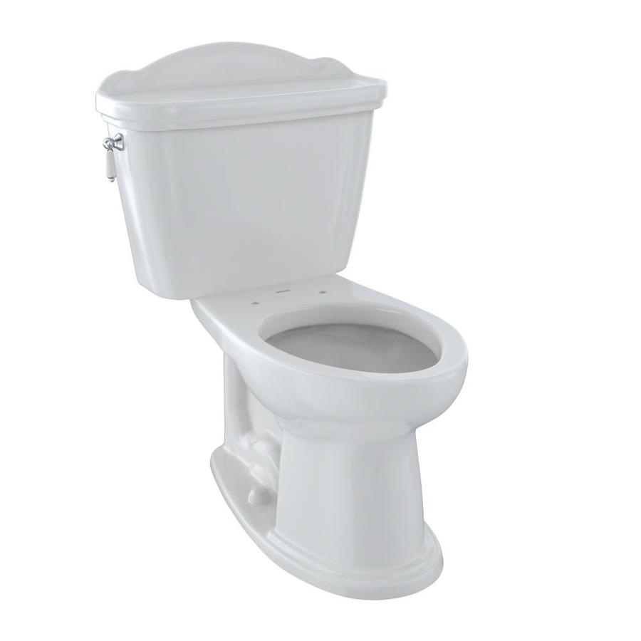 TOTO Eco Whitney Colonial White 1.28-GPF (4.85-LPF) 12 Rough-In WaterSense Elongated 2-Piece Chair Height Toilet