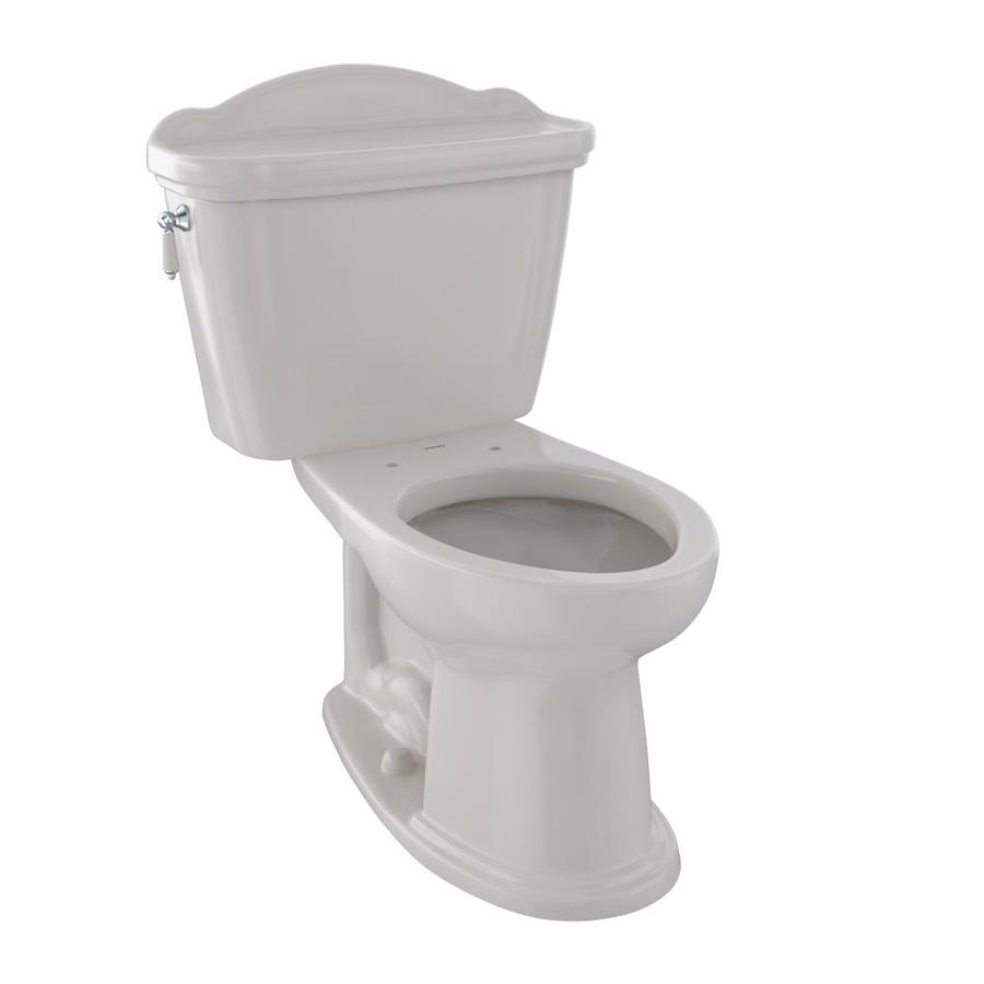 TOTO Eco Whitney 1.28-GPF (4.85-LPF) Sedona Beige Elongated Chair Height 2-piece Toilet