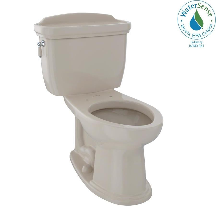 TOTO Eco Dartmouth 1.28-GPF (4.85-LPF) Bone Elongated Chair Height 2-piece Toilet