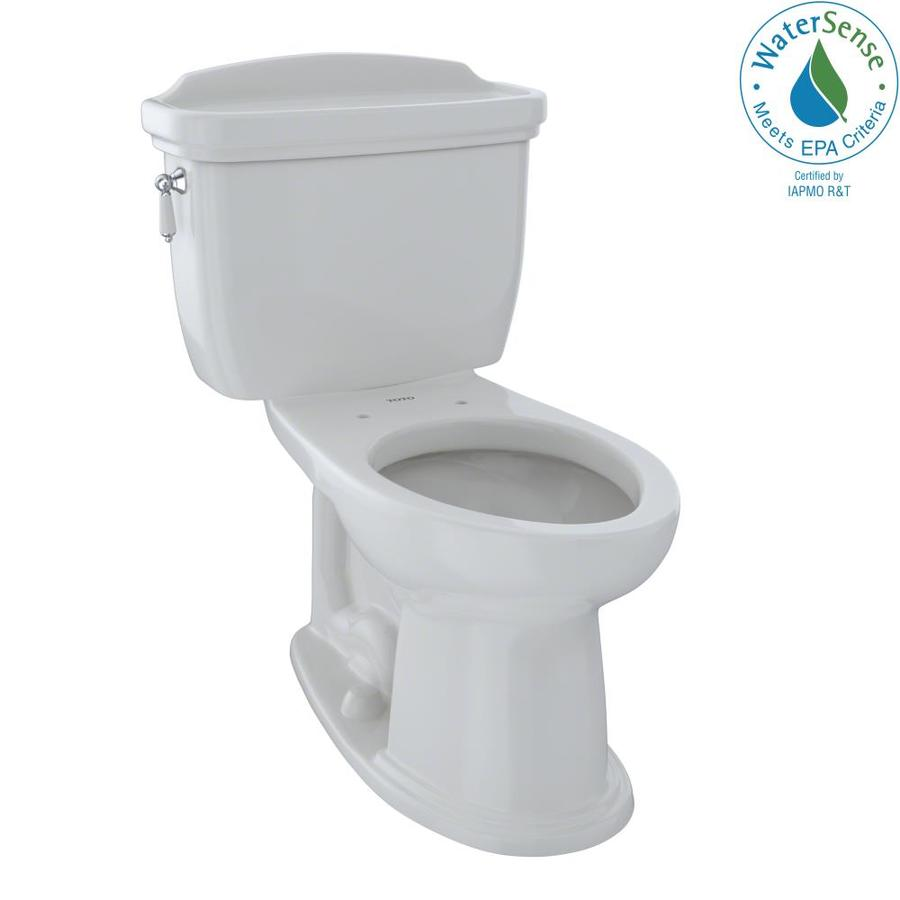 TOTO Eco Dartmouth 1.28-GPF (4.85-LPF) Colonial White WaterSense Elongated Chair Height 2-Piece Toilet