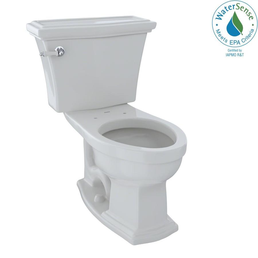 TOTO Eco Clayton 1.28 Colonial White WaterSense Elongated Chair Height 2-Piece Toilet