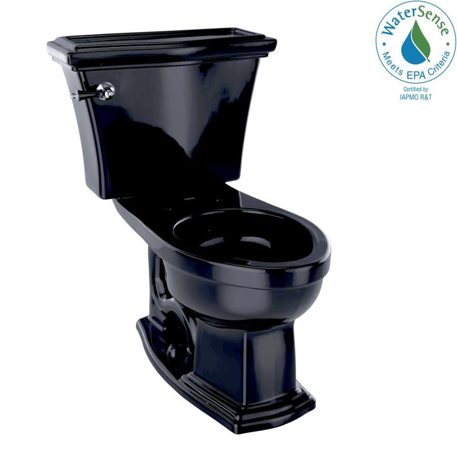 TOTO Eco Clayton 1.28-GPF (4.85-LPF) Ebony Elongated Chair Height 2-piece Toilet