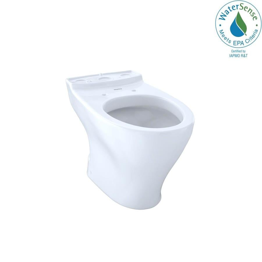 TOTO Aquia Chair Height Cotton White 10 Rough-In Elongated Toilet Bowl