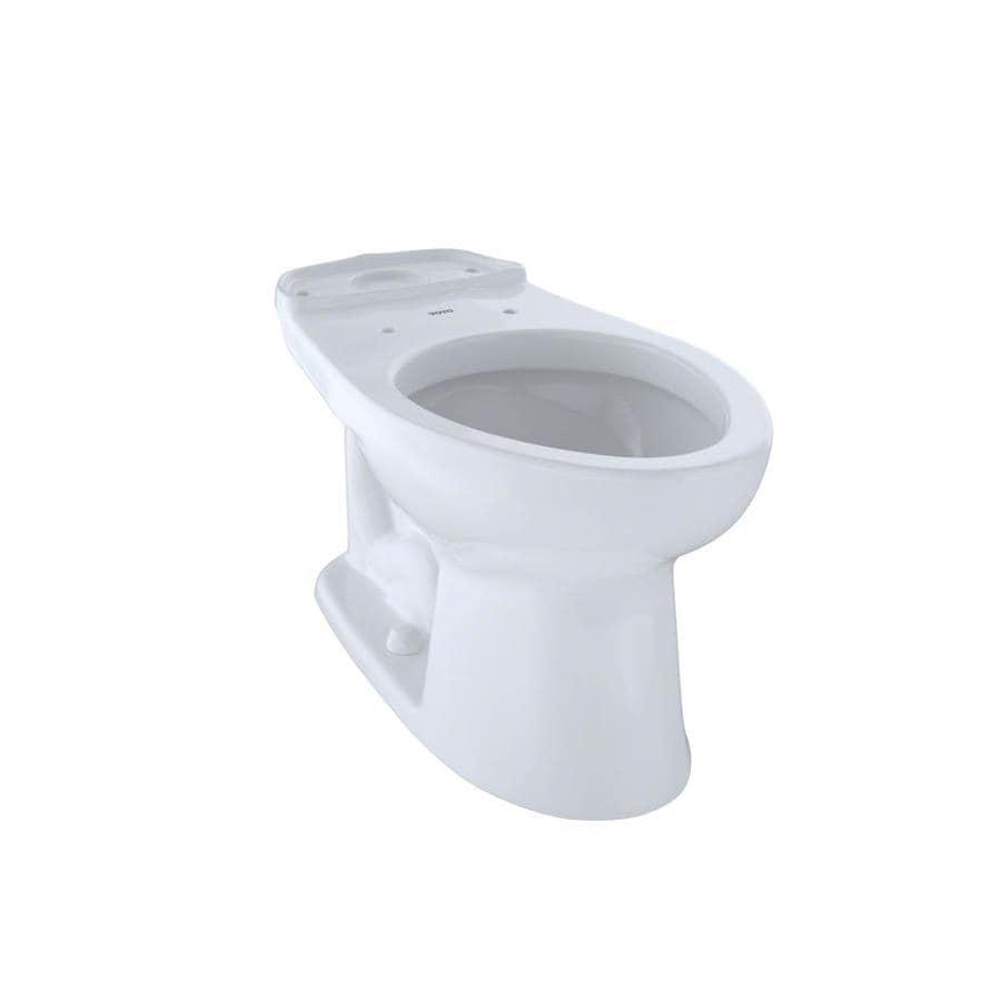Shop TOTO Eco Drake Cotton White Elongated Chair Height Toilet Bowl ...