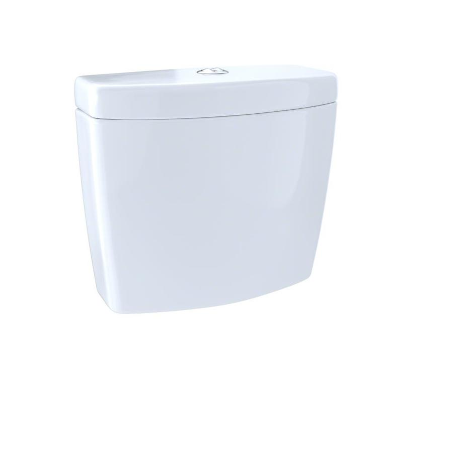 TOTO Aquia Cotton White 0.9-GPF Dual-Flush High-Efficiency Toilet Tank