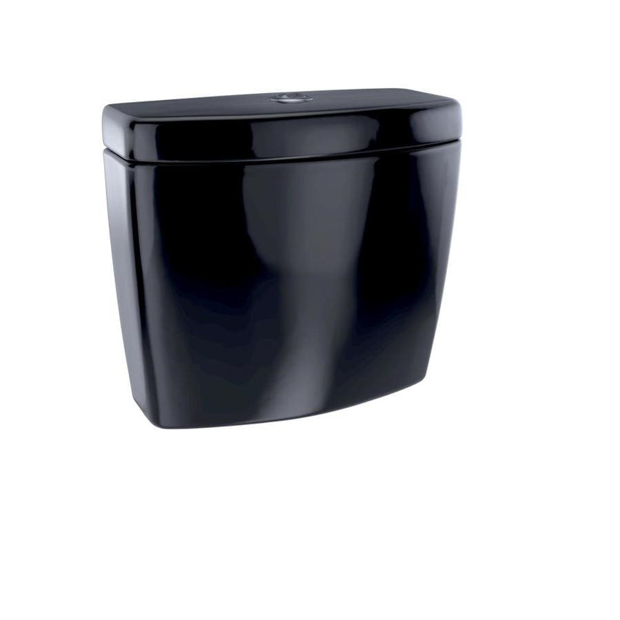 TOTO Aquia Ebony 0.9-GPF Dual-Flush High-Efficiency Toilet Tank