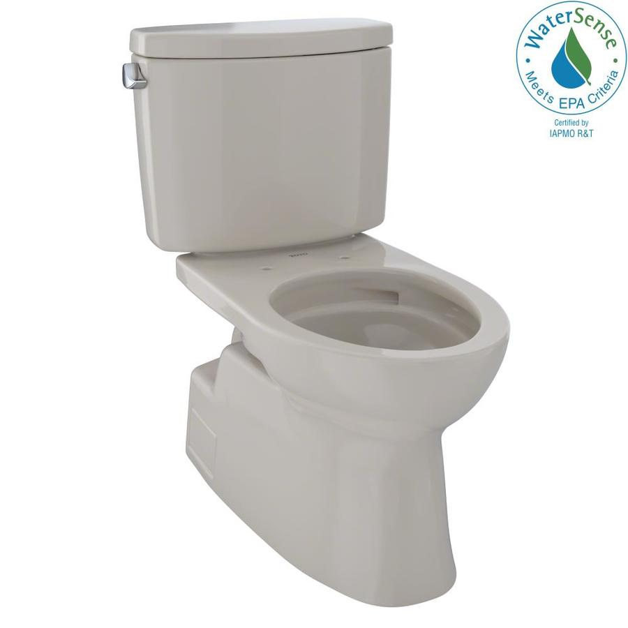 TOTO Vespin II 1.28-GPF (4.85-LPF) Bone WaterSense Elongated Chair Height 2-Piece Toilet