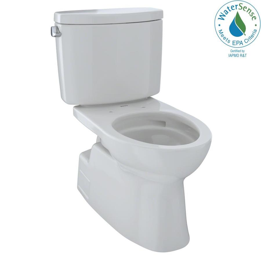 TOTO Vespin II Colonial White WaterSense Labeled  Elongated Chair Height 2-piece Toilet 12-in Rough-In Size