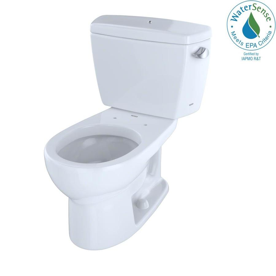 TOTO Eco Drake Cotton White 1.28-GPF (4.85-LPF) 12 Rough-In WaterSense Round 2-Piece Standard Height Toilet