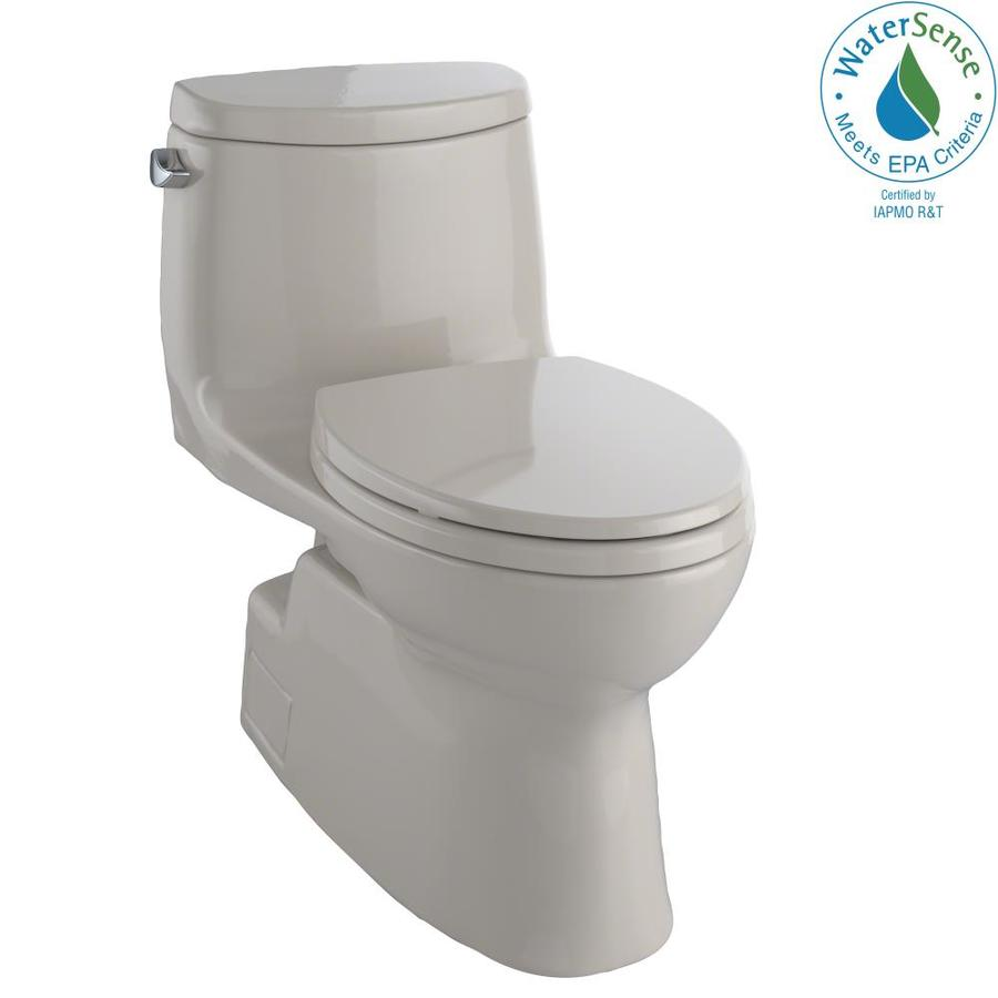 TOTO Carlyle II 1.28-GPF Bone WaterSense Elongated Chair Height 1-Piece Toilet