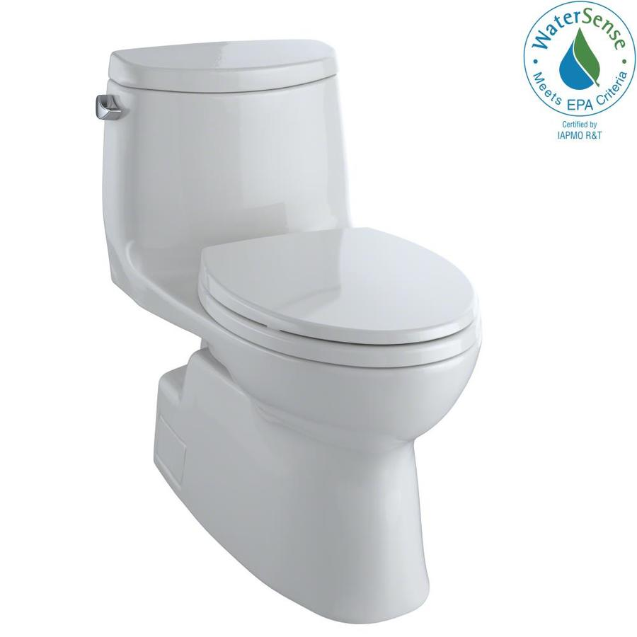 TOTO Carlyle II 1.28-GPF (4.85-LPF) Colonial White WaterSense Elongated Chair Height 1-Piece Toilet