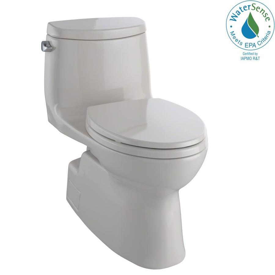 TOTO Carlyle II 1.28-GPF (4.85-LPF) Sedona Beige WaterSense Elongated Chair Height 1-Piece Toilet