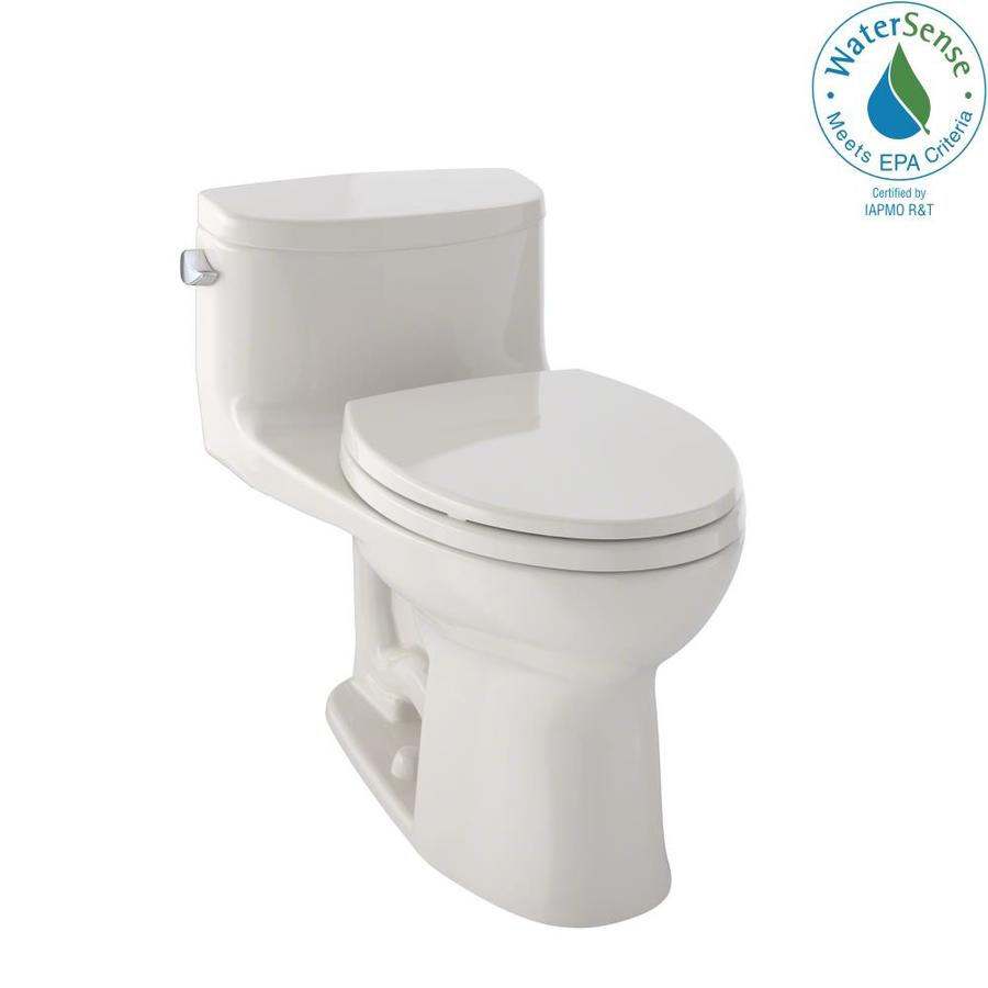 TOTO Supreme II 1.28-GPF (4.85-LPF) Bone WaterSense Elongated Chair Height 1-Piece Toilet
