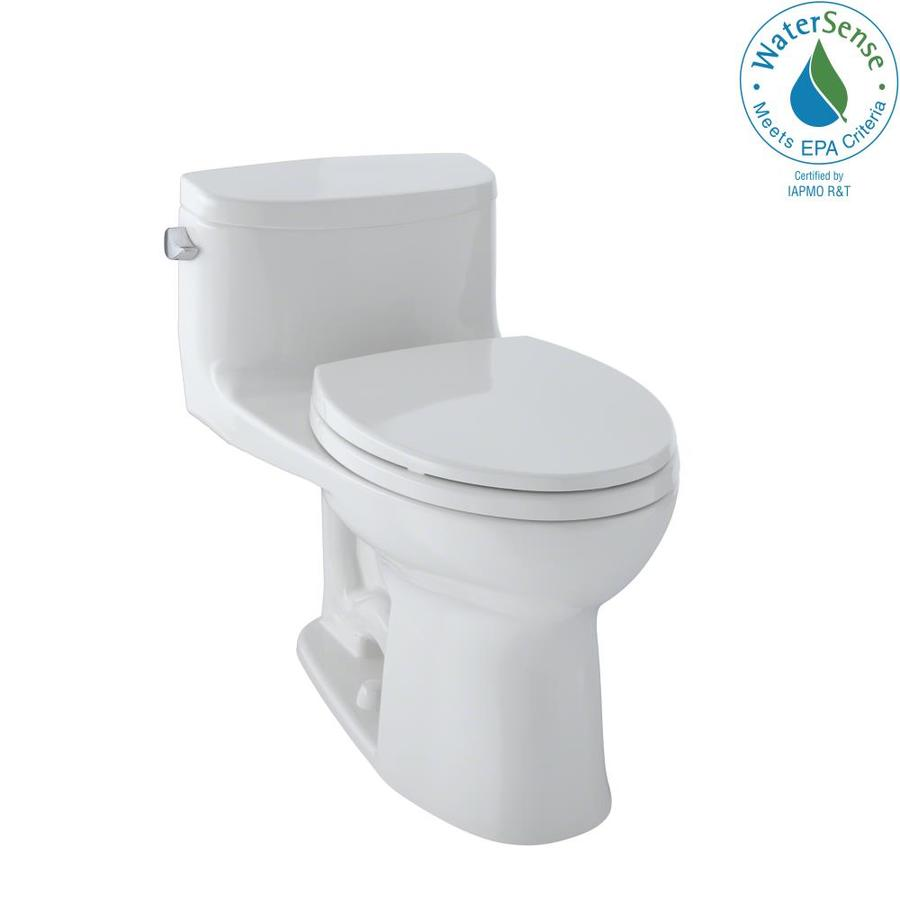 TOTO Supreme II Colonial White WaterSense Labeled  Elongated Chair Height 1-piece Toilet 12-in Rough-In Size