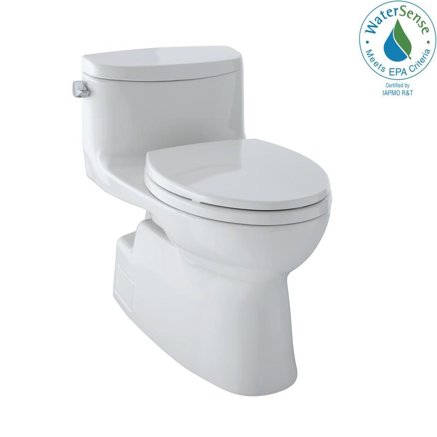 TOTO Carolina II 1.28-GPF (4.85-LPF) Colonial White WaterSense Elongated Chair Height 1-Piece Toilet