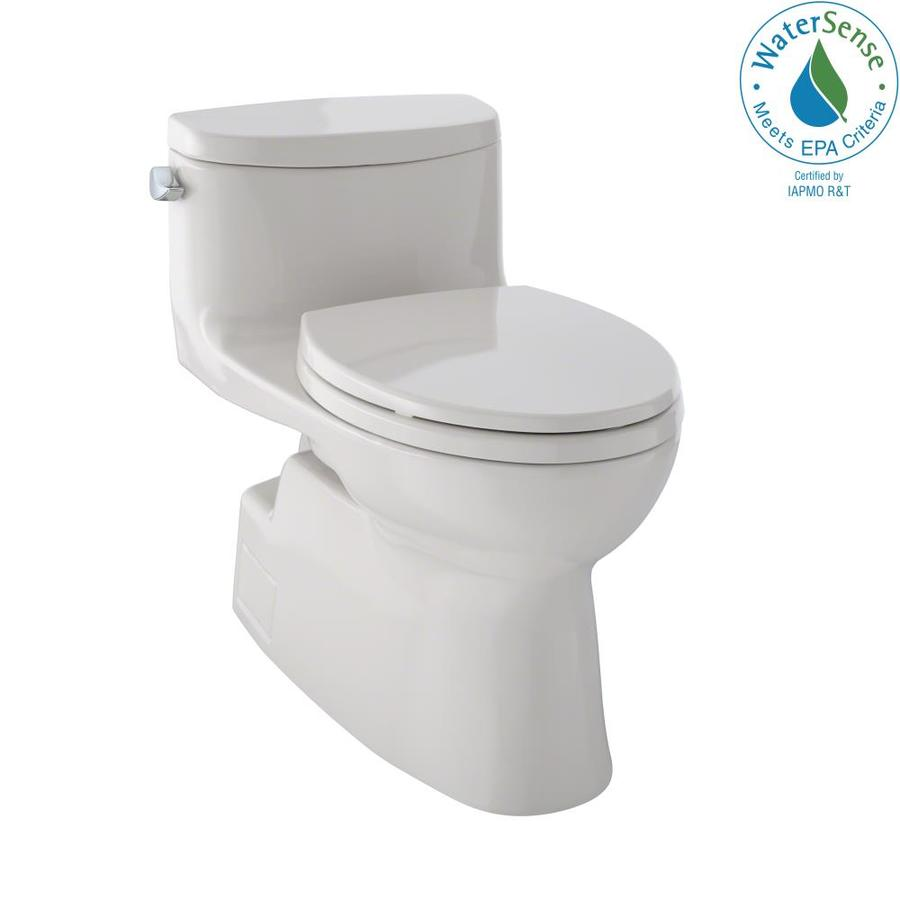 TOTO Carolina II 1.28-GPF (4.85-LPF) Sedona Beige Elongated Chair Height 1-piece Toilet
