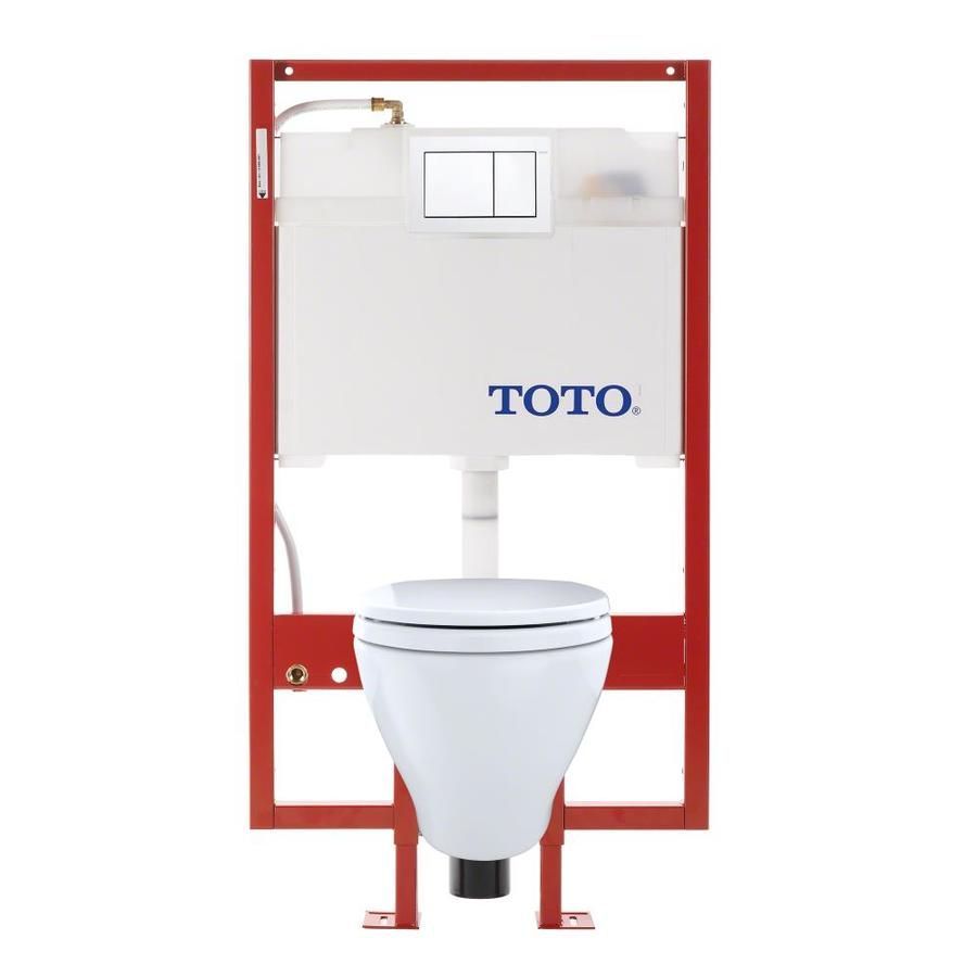 TOTO Aquia 0.9-GPF Cotton White WaterSense Dual-Flush Elongated Chair Height 2-Piece Toilet