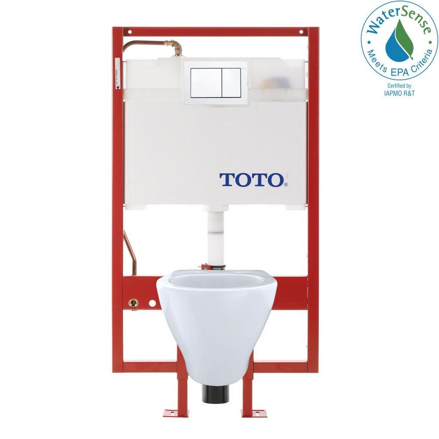 TOTO Aquia Cotton White WaterSense Labeled Dual Elongated Chair Height 2-piece Toilet 12-in Rough-In Size