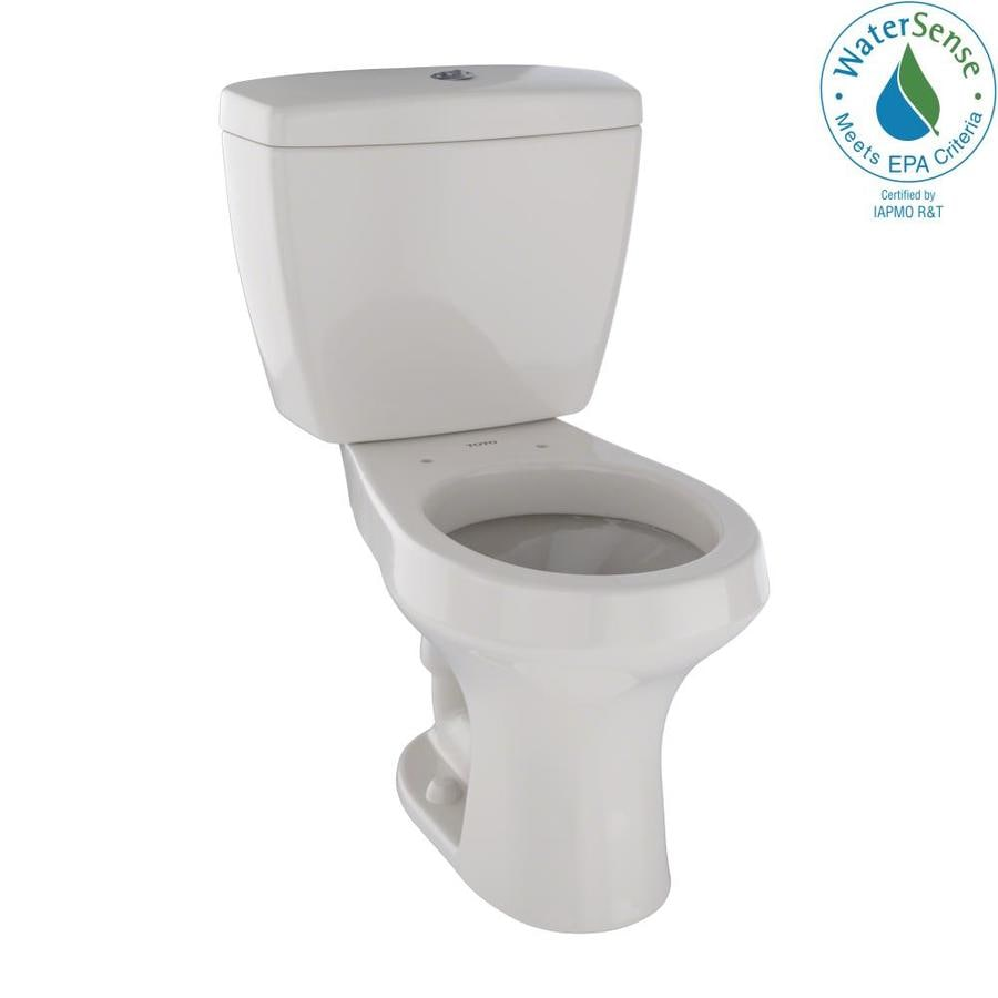 TOTO Rowan 1.6; 1-GPF (6.06; 3.79-LPF) Sedona Beige Dual Flush Round Chair Height 2-piece Toilet