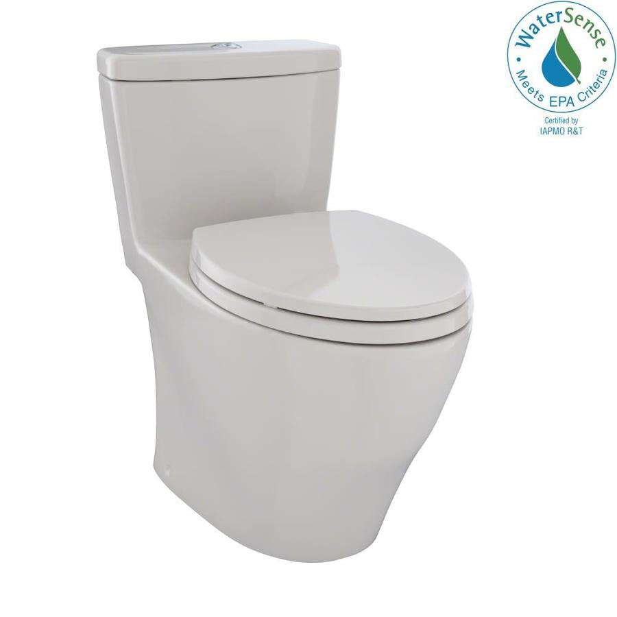 shop toto aquia sedona beige watersense labeled dual elongated chair height 1 piece toilet 12 in. Black Bedroom Furniture Sets. Home Design Ideas