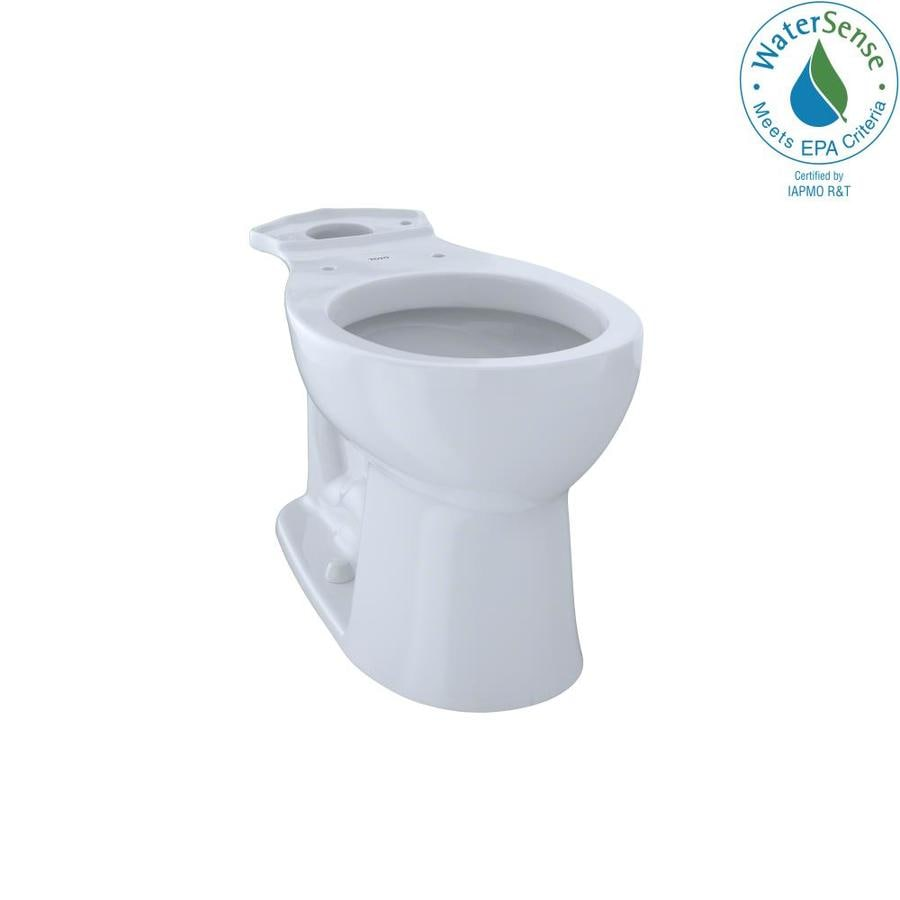 TOTO Entrada Chair Height Cotton White 12 Rough-In Round Toilet Bowl
