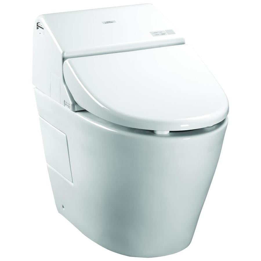 TOTO Neorest 1-GPF Cotton White WaterSense Dual-Flush Elongated Standard Height 1-Piece Toilet
