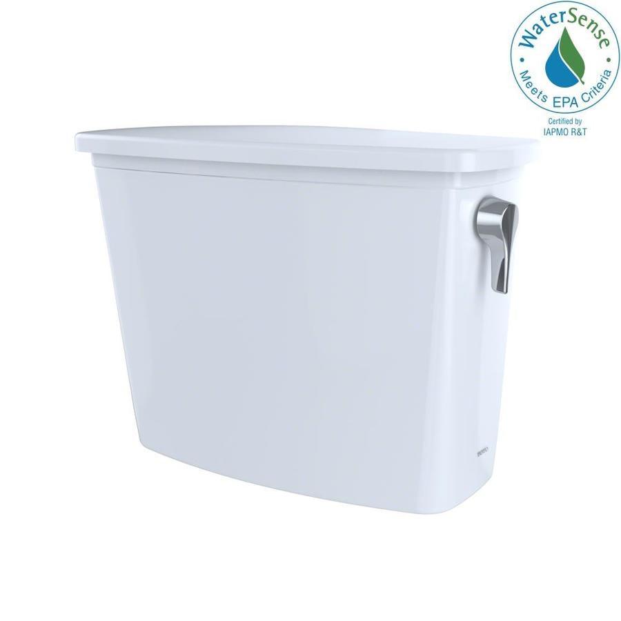 TOTO Drake Cotton White 1.28-GPF Single-Flush High-Efficiency Toilet Tank
