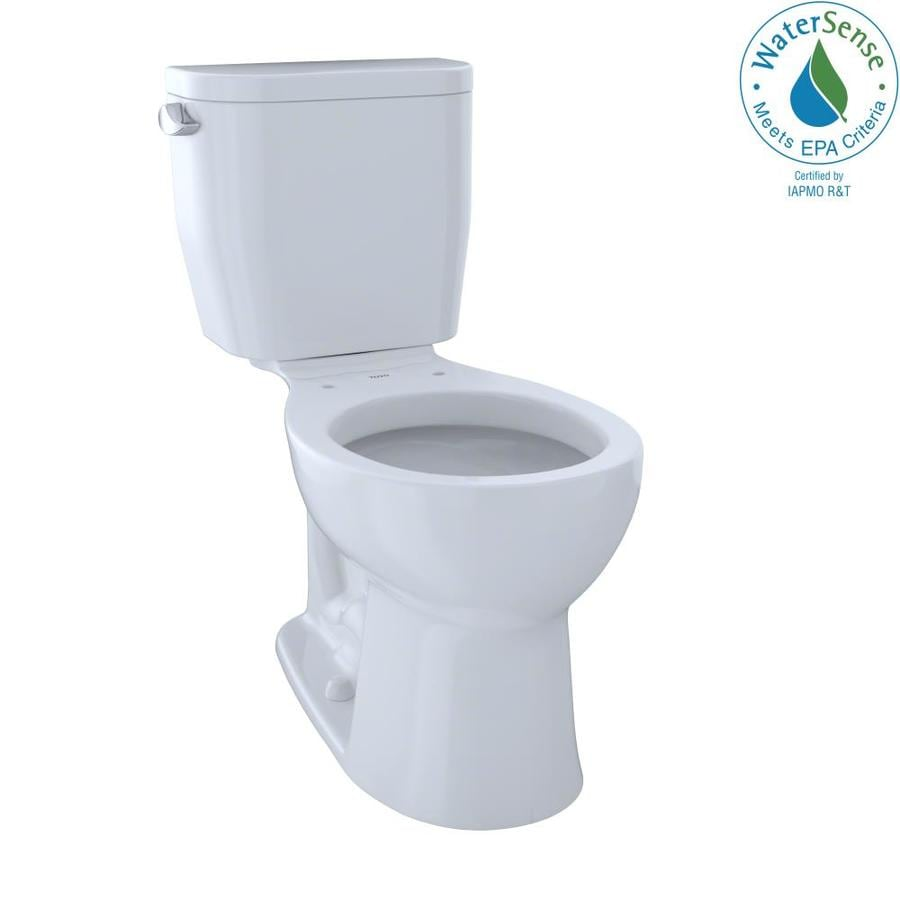 TOTO Entrada 1.28 Cotton White WaterSense Round Chair Height 2-Piece Toilet