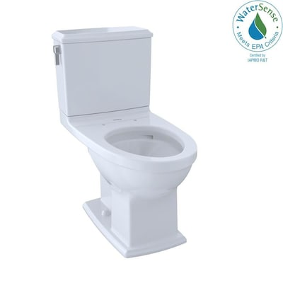 Connelly Cotton White Watersense Dual Flush Elongated Chair Height 2 Piece Toilet 12 In Rough Size
