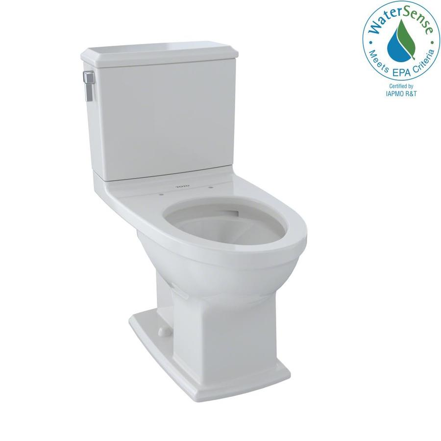 TOTO Connelly 1.28-GPF Colonial White WaterSense Dual-Flush Elongated Chair Height 2-Piece Toilet