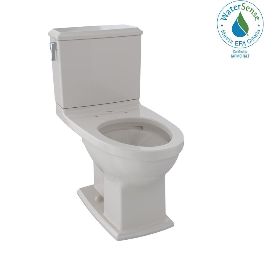 TOTO Connelly Sedona Beige WaterSense Labeled Dual Elongated Chair Height 2-piece Toilet 12-in Rough-In Size
