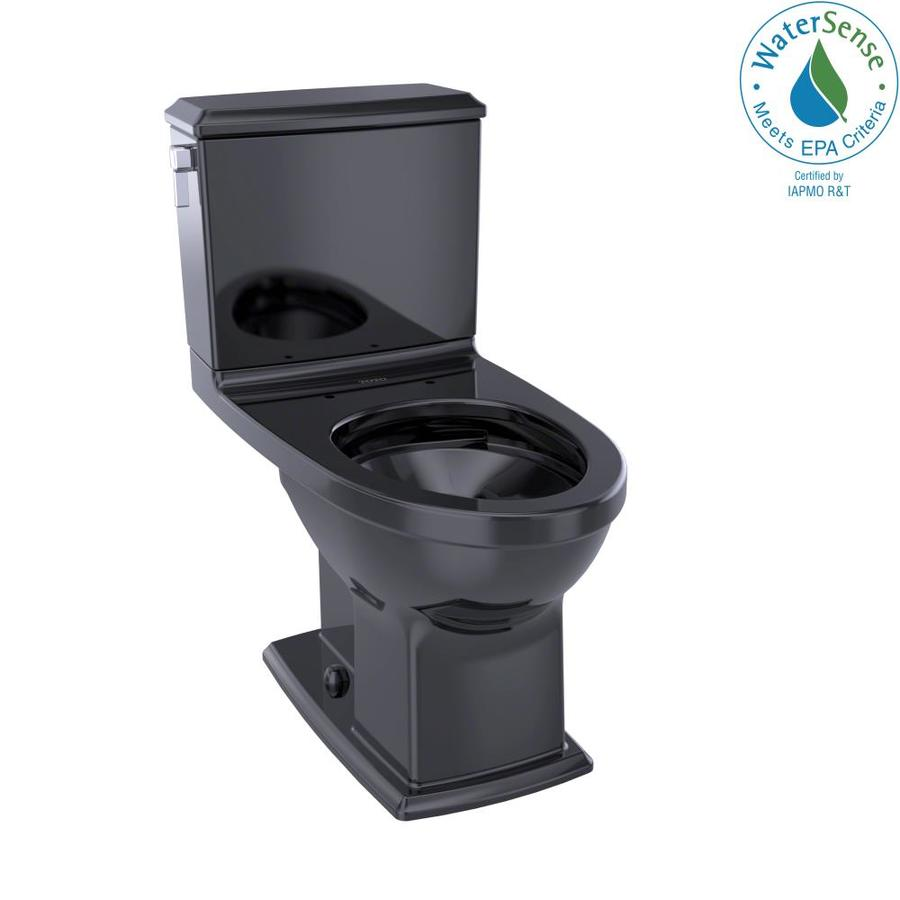 TOTO Connelly 1.6; 0.9-GPF (6.06; 3.41-LPF) Ebony WaterSense Dual-Flush Elongated Chair Height 2-Piece Toilet