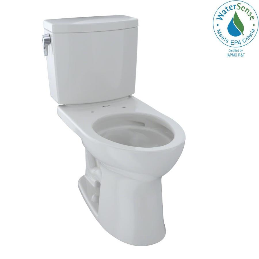 TOTO Drake II 1.0-GPF (3.79-LPF) Colonial White WaterSense Elongated Chair Height 2-Piece Toilet