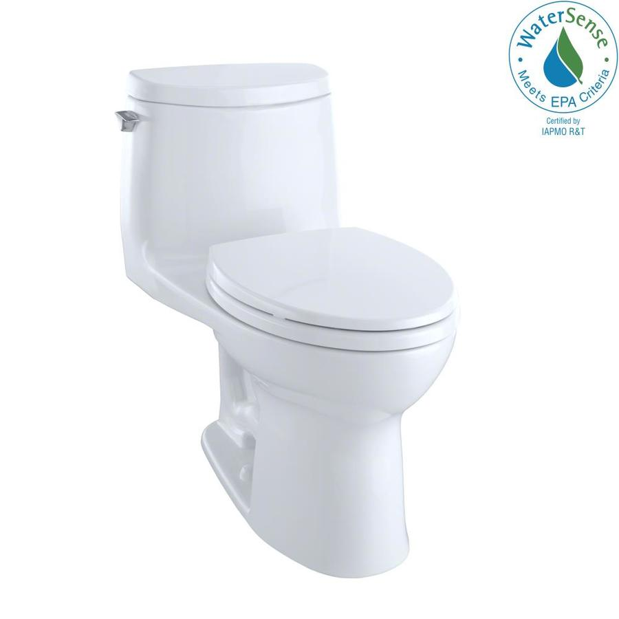 TOTO Ultramax II 1-GPF Cotton White WaterSense Elongated Chair Height 1-Piece Toilet