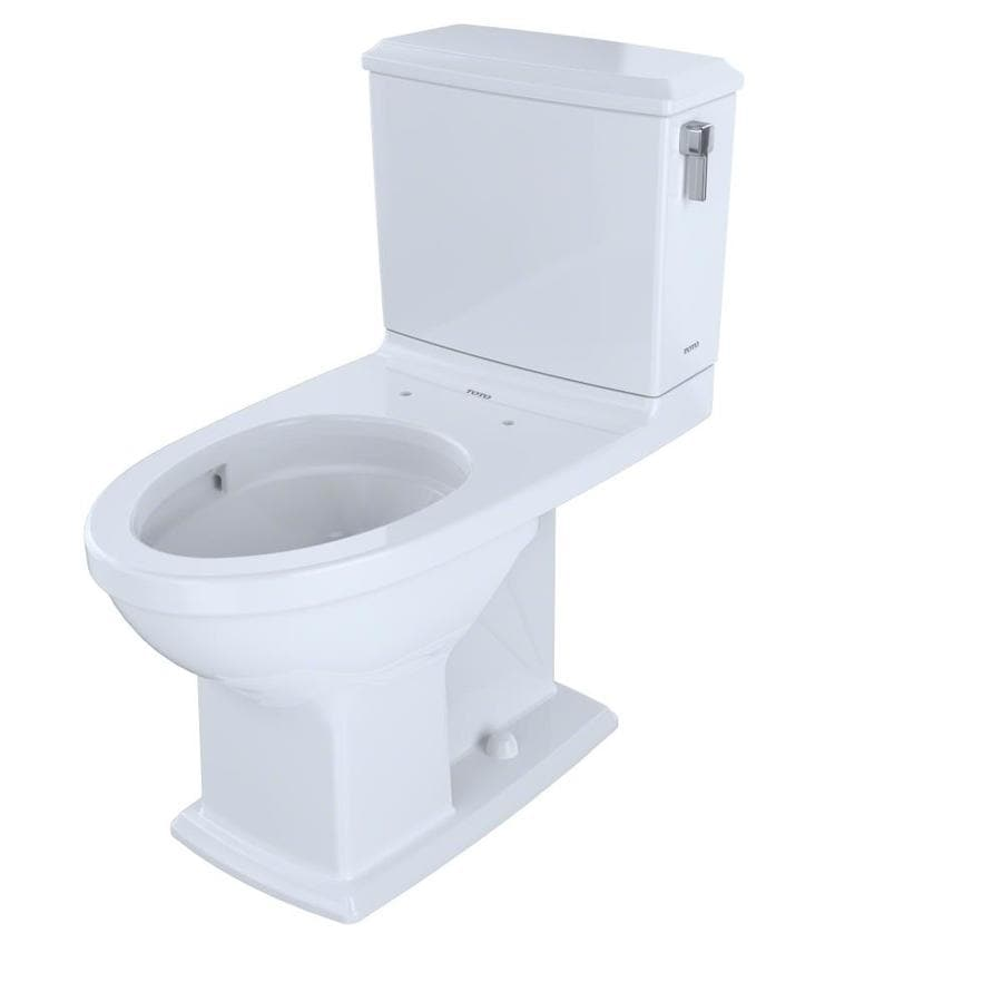 TOTO Connelly 1.6; 0.9-GPF (6.06; 3.41-LPF) Cotton White Dual Flush Elongated Chair Height 2-piece Toilet